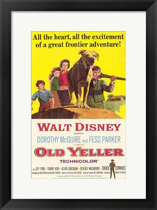 Framed Old Yeller Print
