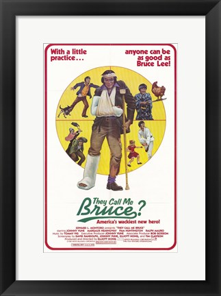 Framed They Call Me Bruce (movie poster) Print