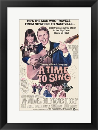 Framed Time to Sing Print