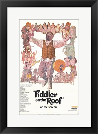 Framed Fiddler on the Roof Film Print