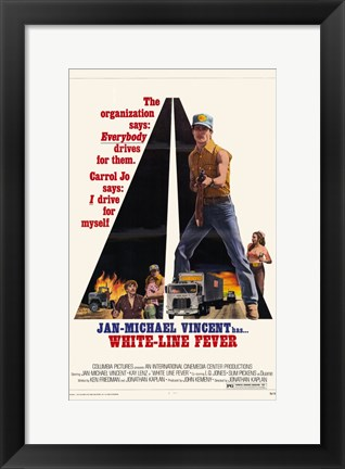 Framed White Line Fever Jan-Michael Vincent Print