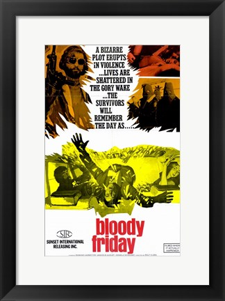 Framed Bloody Friday Print