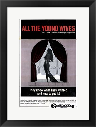 Framed All the Young Wives Print