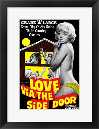 Framed Love Via the Side Door Print