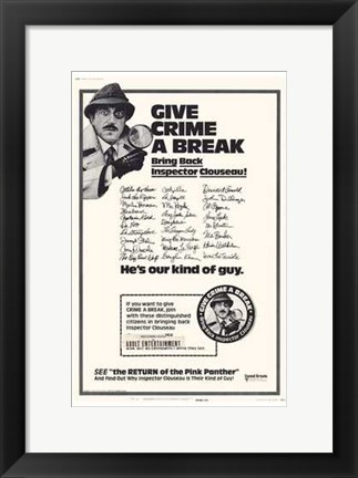 Framed Return of the Pink Panther Inspector Clouseau Print