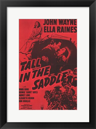 Framed Tall in the Saddle Print