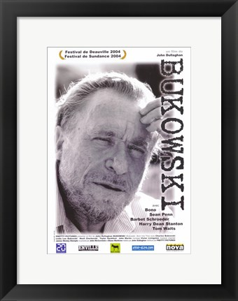 Framed Bukowski: Born Into This Film Poster French Print
