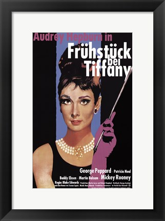 Framed Breakfast At Tiffany's (german) Print
