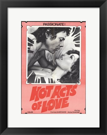 Framed Hot Acts of Love Print
