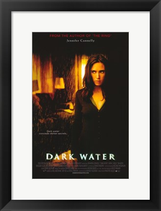 Framed Dark Water Jennifer Connelly Print