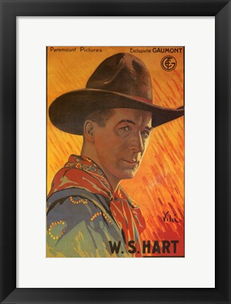 Framed William S Hart Print