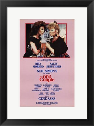 Framed Odd Couple  the (Broadway Play) Print