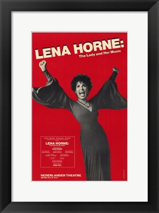 Framed Lena Horne - the Lady and Her Music (Bro Print
