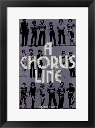 Framed Chorus Line  (Broadway Musical) Print