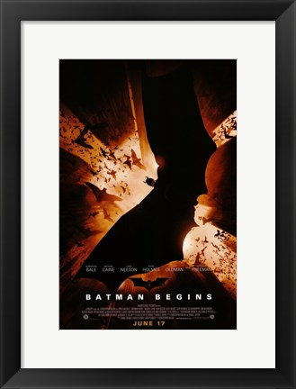 batman begins bat logo poster by unknown at framedartcom