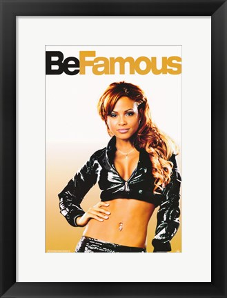 Framed Be Cool - Be Famous Print