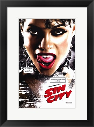 Framed Sin City Roasario Dawson as Gail Close Up Print