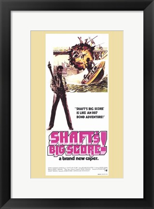 Framed Shaft's Big Score Brand New Caper Print