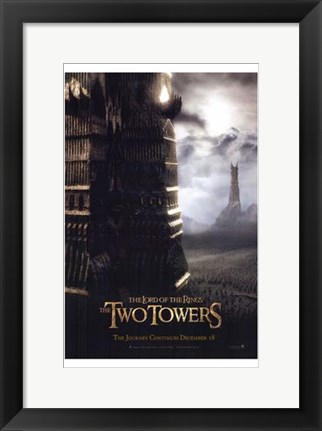 Framed Lord of the Rings Towers Print