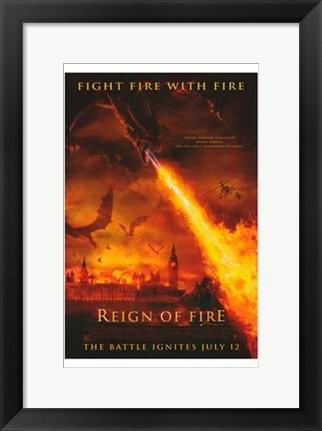 Framed Reign of Fire Print