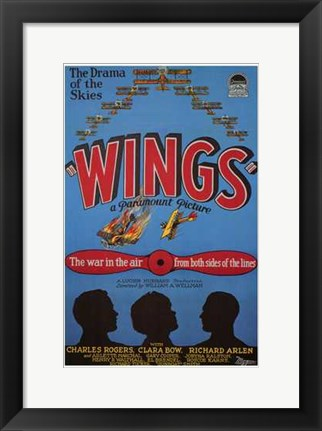 Framed Wings - The war in the air from both sides of the lines Print