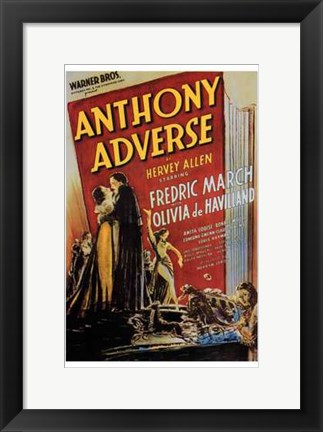 Framed Anthony Adverse Print