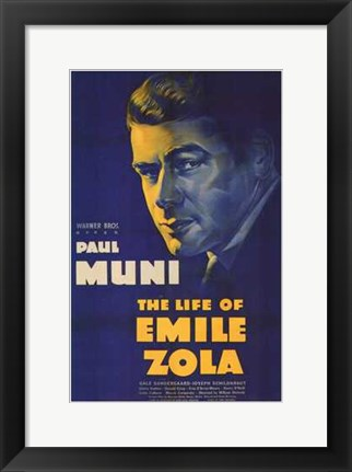 Framed Life of Emile Zola Print