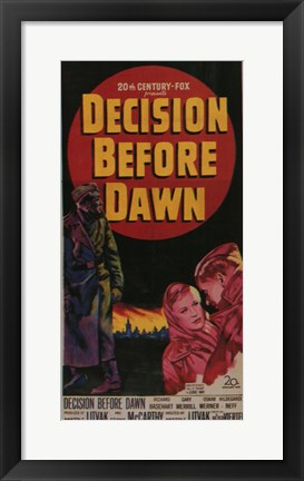 Framed Decision Before Dawn Print