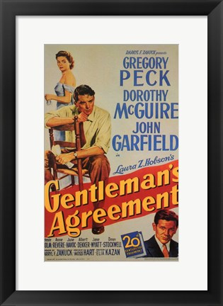 Framed Gentleman's Agreement Print
