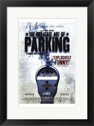 Framed Delicate Art of Parking Print