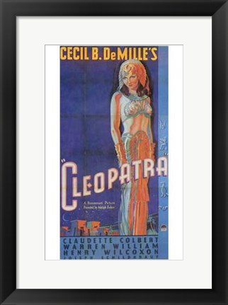 Framed Cleopatra Art Deco Cecil B. DeMille Print