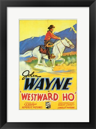 Framed Westward Ho Print
