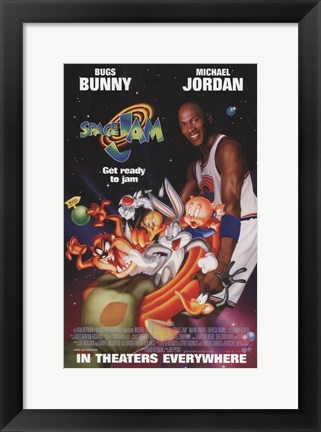 Framed Space Jam - Get Ready to Jam Print
