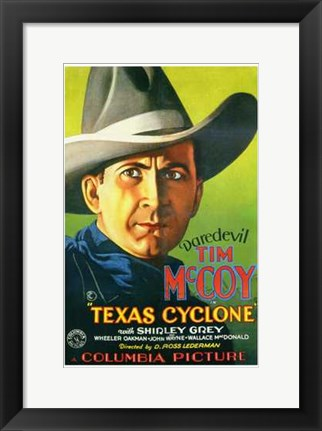 Framed Texas Cyclone Print