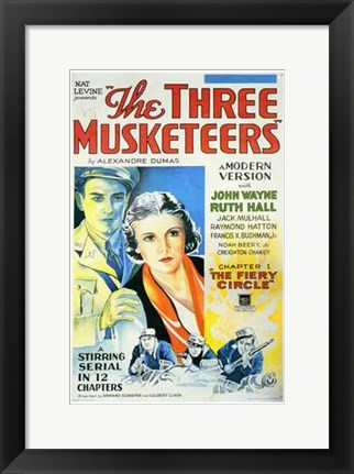 Framed Three Musketeers Print