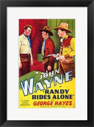 Framed Randy Rides Alone George Hayes Print