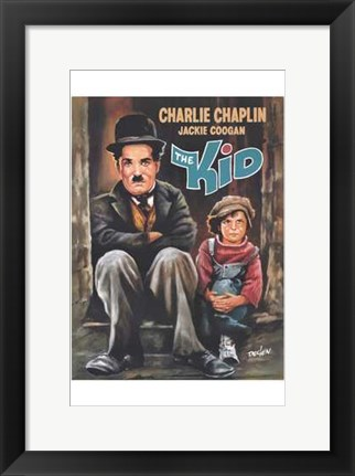 Framed Kid Caricature Print