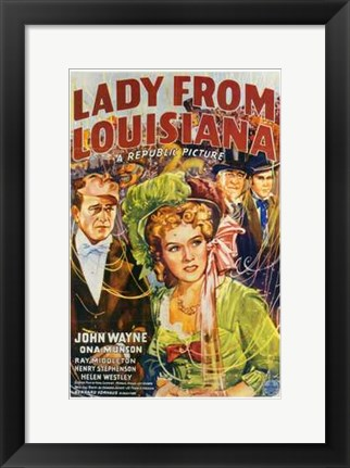 Framed Lady from Louisiana Print