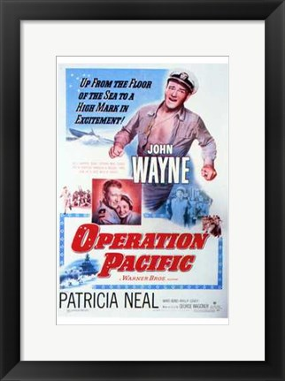 Framed Operation Pacific Print