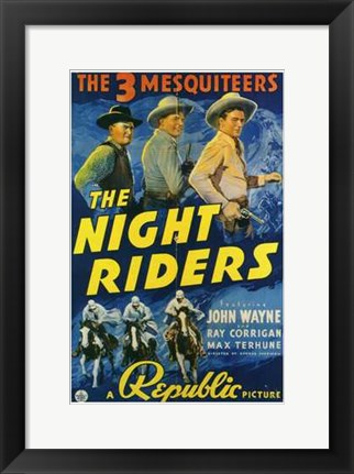 Framed Night Riders Print