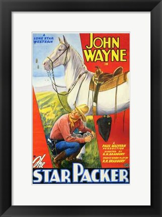 Framed Star Packer Print