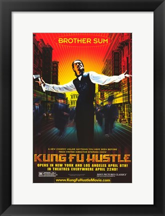 Framed Kung Fu Hustle Brother Sum Print