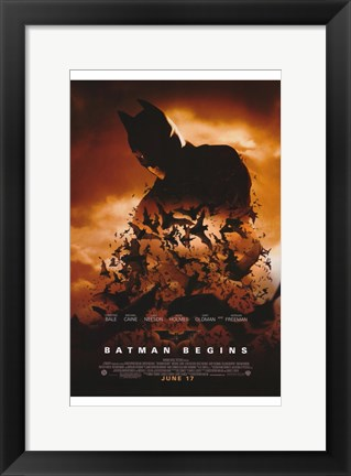 Framed Batman Begins June 17 Print