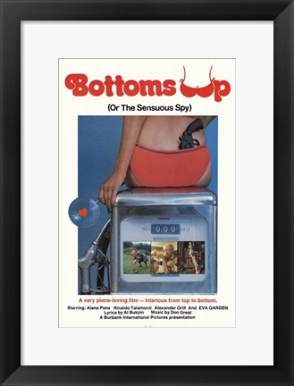 Framed Bottoms Up Print