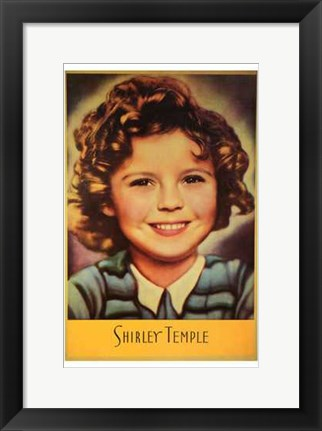 Framed Shirley Temple Print