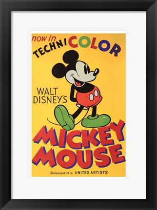 Framed Walt Disney's Mickey Mouse Poster Print