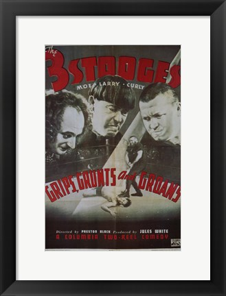 Framed Grips  Grunts and Groans Print