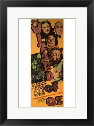 Framed Wizard of Oz Vertical Print