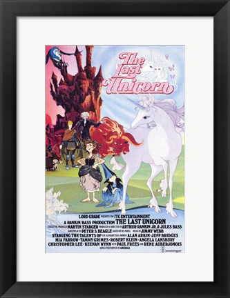 Framed Last Unicorn - Light and dark Print
