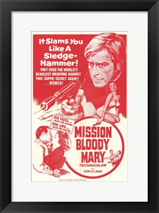 Framed Mission Bloody Mary Print